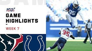 Texans vs. Colts Week 7 Highlights | NFL 2019