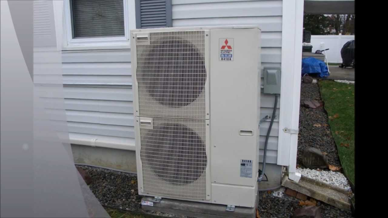 "HVAC Mitsubishi ""Mini split"" Multi zone.wmv - YouTube"
