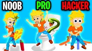 NOOB vs PRO vs HACKER In PRANK MASTER 3D! (ALL LEVELS! *PRANK ADAM'S MOM!?*)