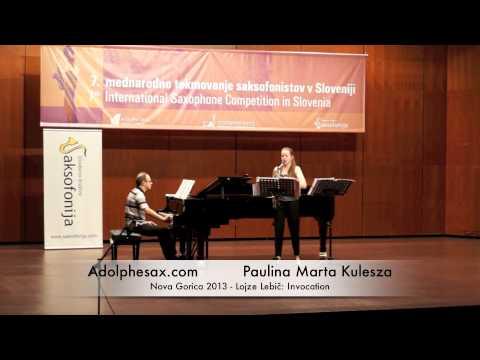 Paulina Marta Kulesza - Nova Gorica 2013 - Lojze Lebič: Invocation