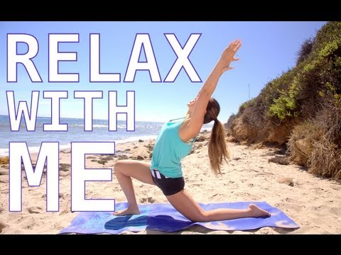 relax with me stretch routine  pop pilates beach series