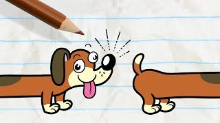 Pencilmate's Dog Gets into a Fight -in- PAIN IN THE MUTT - Pencilmation Cartoons for Kids