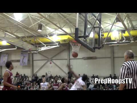 Kentucky Wildcat commit James Young dunks over defender at the Roundball Classic