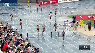 Dalilah Muhammad Breaks World Record In The Women's 400-meter Hurdles | Champions Series Presented B