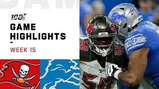 Buccaneers vs. Lions Week 15 Highlights | NFL 2019