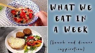 WHAT WE EAT IN A WEEK (FAMILY EVENING MEALS & LUNCHES)