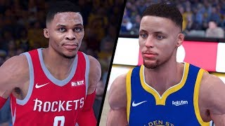 NBA 2K19 - Houston Rockets vs. Golden State Warriors - Full Gameplay (Updated Rosters)
