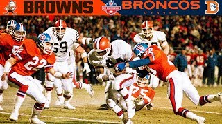 """The Fumble"" (Browns vs. Broncos, 1987 AFC Championship) | NFL Vault Highlights"