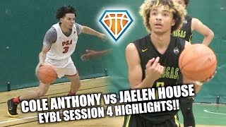 COLE ANTHONY vs JAELEN HOUSE!! | Elite Point Guards FACE OFF at EYBL Hampton
