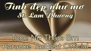 Karaoke Tình Đẹp Như Mơ - Tone Nữ Thấp | TAS BEAT