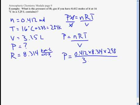 PV=nRT The Ideal Gas Law - YouTube