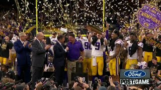 LSU beats Clemson to win college football title