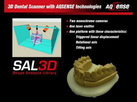 3D Dental Laser Scanner with AQSENSE Technologies