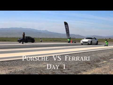 Porsche 996 races a Ferrari FF at Shift-S3ctor Coalinga 2016