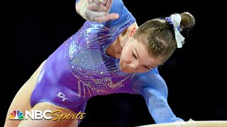 Jade Carey soars to silver in world championship vault final | NBC Sports