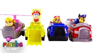 Paw Patrol Switch Vehicles: Boss Skye, Chase, Marshall Rubble