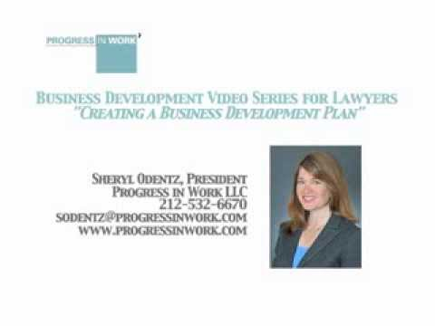"Business Development Video Series for Lawyers - ""Creating a Business Development Plan"""