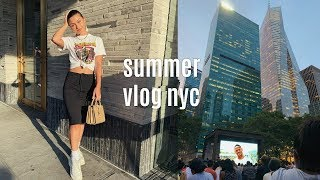 SUMMER VLOG | getting back into routine, paint n pour nyc, + movie in bryant park