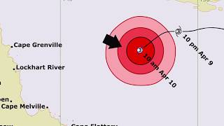 Understanding Tropical cyclone forecast track maps (QLD)
