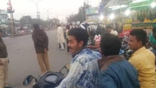 Maharashtra CM( Devendra Fadnavis )Break the NH-7 traffic singal Kamptee