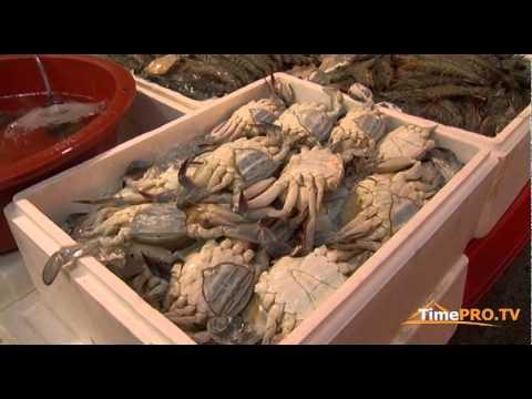 Репортаж с Южной Кореи. Рыбный рынок в Сеуле.