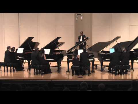 William Tell Overture by Rossini (4 pianos, 16 hands)