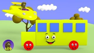Learn shapes with baby bus car truck and more