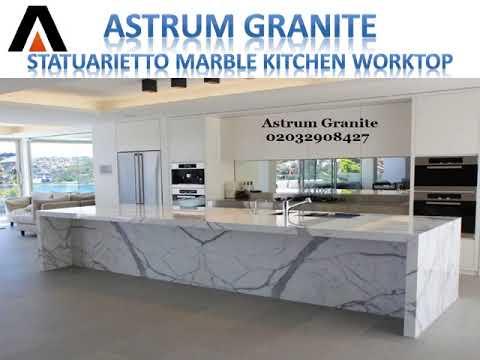 Statuarietto Marble Kitchen Worktop - Call Us: 02032908427 | Astrum Granite