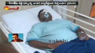 SI Indrasena Reddy Injured in Road Accident In Karimnagar ..