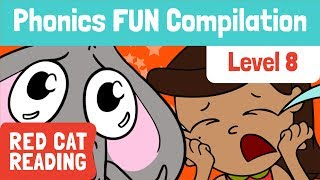 Fun Phonics | Level 8 | qu, ar, oi, ou, ue | How to Read | Made by Red Cat Reading