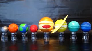 Planets In Our Solar System   DIY Science Project For Kids   Easy To Do Solar System Model