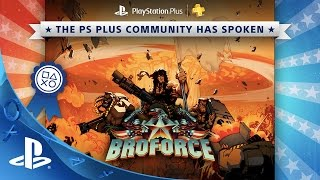 Broforce leads the charge of free games for PlayStation Plus in March