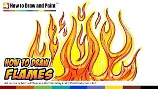 ללמוד איך לצייר אש