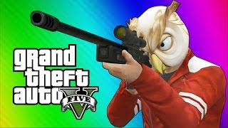 GTA 5 Next Gen Funny Moments - Sniper Montage, Treehouse, Glitches, Bank Robbery!