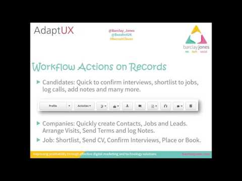 RecruitClever Webinar: First look at AdaptUX with Barclay Jones!