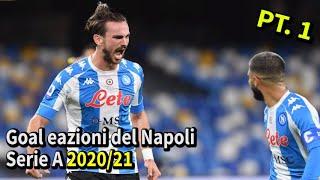 Goal e azioni del Napoli Serie A 2020/21 (girone d'andata)