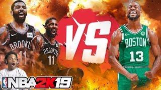 NBA 2K19 KYRIE IRVING VS KEMBA WALKER!!