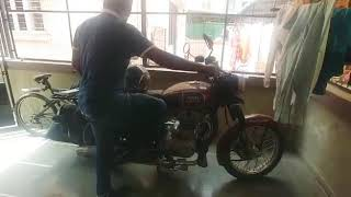 Starting  royalenfield classic 350 after a long time