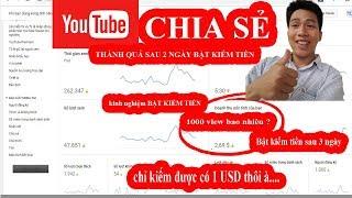 Kiếm Tiền Youtube Và Thu Nhập Thực Tế Sau Khi Bật Kiếm Tiền