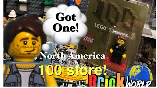 LEGO 🌎 Got one! North America 100th store exclusive minifigure! Rare and very limited. Unboxing