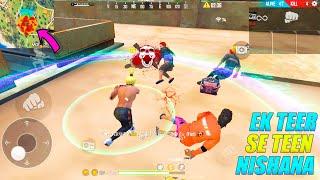 Ek Teer Se Teen Nishana | OP Factory Fist Fight Solo vs Squad | Garena Free Fire | P.K. GAMERS