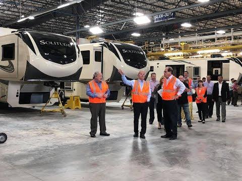 Indiana U.S. Senator Mike Braun Visits RV  Grand Design