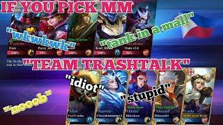 MOBILE LEGENDS MM | MM IN RANK GAME | ML TRASHTAL | ML BANG BANG