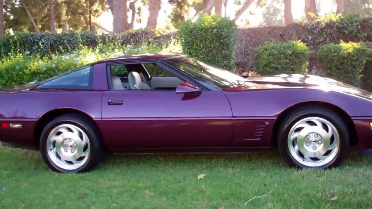 Corvette Stingray 1969 >> SOLD 1995 Purple Corvette Coupe for Sale by Corvette Mike Anaheim California - YouTube
