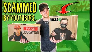 BUYING YOUTUBER MERCH.. Who's the BIGGEST scam.. YEEZY BUSTA VS FAKE_EDUCATION