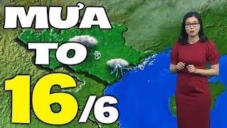 Dự báo thời tiết hôm nay và ngày mai 16/6 | Dự báo thời tiết đêm nay mới nhất