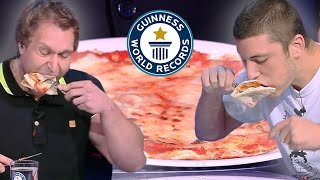 Fastest Time To Eat Pizza 🍕 - Guinness World Records