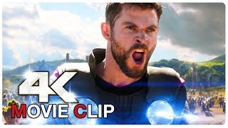 AVENGERS INFINITY WAR - Avengers Vs Thanos - Without Special Effects - Movie Clip (4K ULTRA HD) 2018