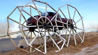 Truck Drives on 20 FOOT TALL WHEELS (World Record)