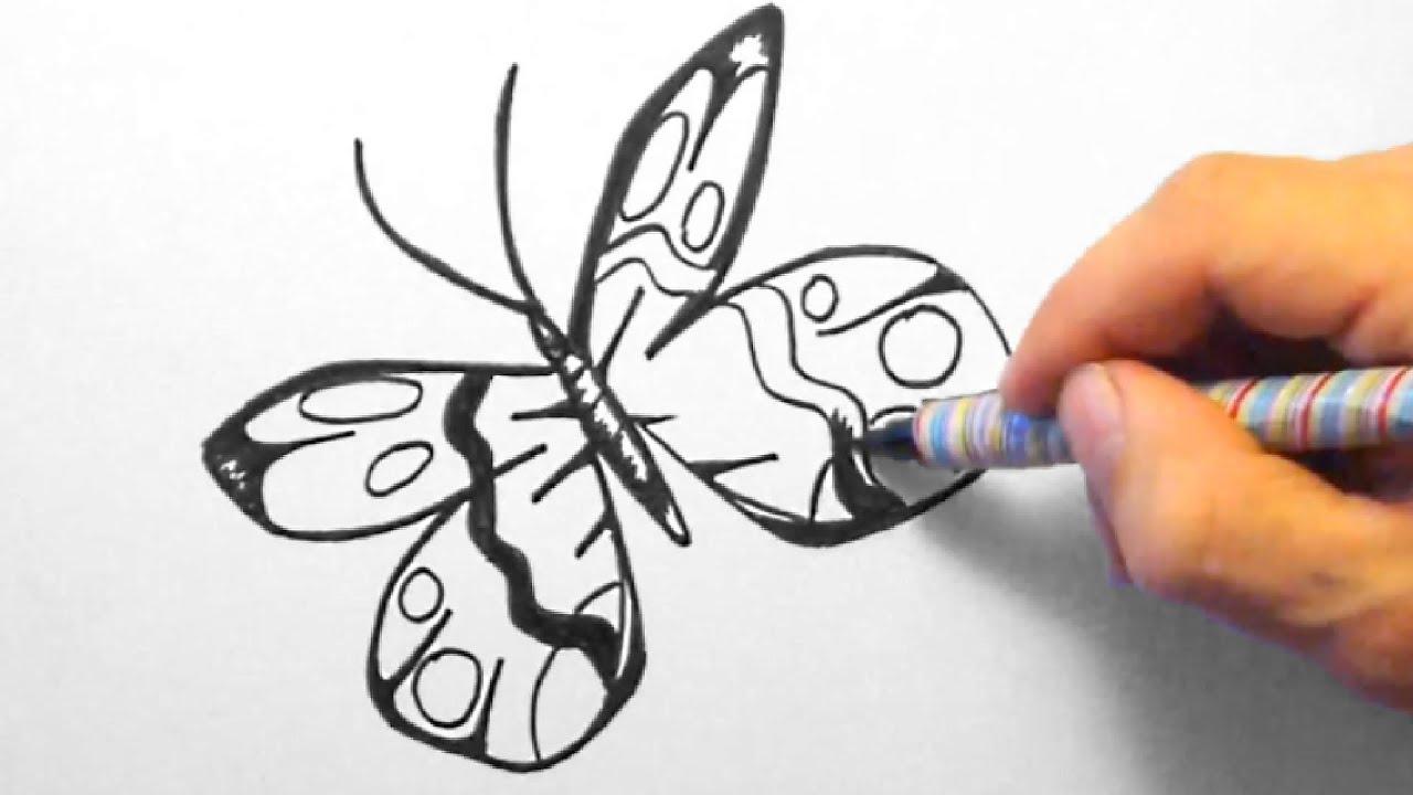 schmetterling zeichnen für anfänger butterfly drawing